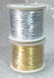 Metallic Elasticated Beading Cord