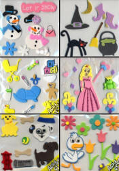 Soft Foam Art Stickers