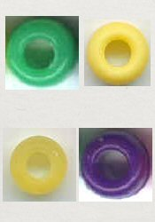 Plastic Pony Bead single colours