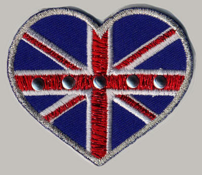 Studded Union Jack Heart