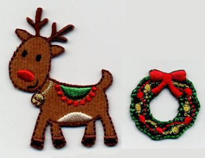 Reindeer and Wreath