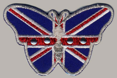 Studded Union Jack Butterfly