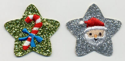 Glittery Star Santa and Cane
