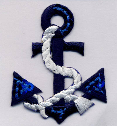 Blue Sequin Anchor