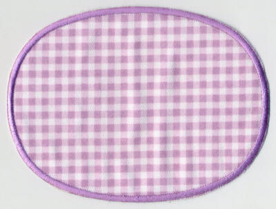 Lilac Gingham with Edging Patch