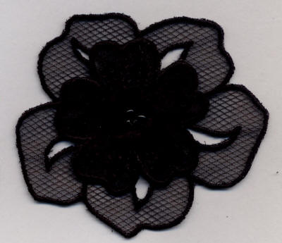 Black Sequin Flower