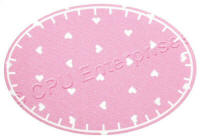 Pink with Heart Print Patch