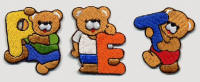 Iron On Teddy Letters