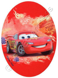 Oval Lightning McQueen from Cars Patch