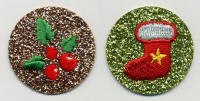 Glittery Round Stocking and Holly