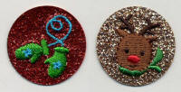 Glittery Round Reindeer and Mittens