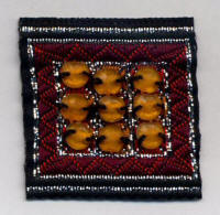 Square Patch with Amber