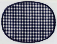 Navy Gingham with Edging Patch