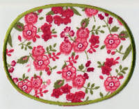 Pink Floral with Edging Patch