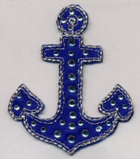 Navy Anchor with Gems
