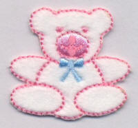 Pink and White Bear