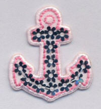 Pink Sequin Anchor