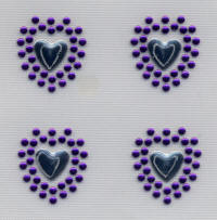 Silver and Purple Hearts