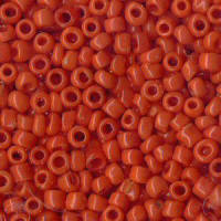 Orange Rocailles Beads