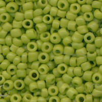 Lime Green Rocailles Beads