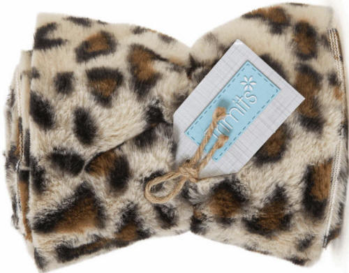 Cream Leopard Faux Fur